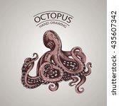 sketch handmade octopus... | Shutterstock .eps vector #435607342
