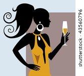 party girl   Shutterstock .eps vector #43560796