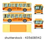 city urban bus  transport bus ... | Shutterstock . vector #435608542