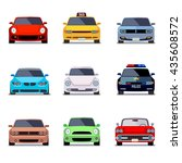 car flat icons in front view | Shutterstock . vector #435608572