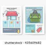 business brochure flyer design... | Shutterstock .eps vector #435609682