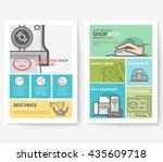 business brochure flyer design... | Shutterstock .eps vector #435609718