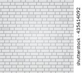 white painted brick wall... | Shutterstock .eps vector #435614092
