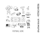 football hand drawn vector... | Shutterstock .eps vector #435614836