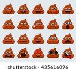 poop emoticons smileys... | Shutterstock . vector #435616096