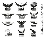 heraldic symbols with eagle... | Shutterstock . vector #435616846