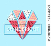 card with colorful diamond shape   Shutterstock .eps vector #435616906