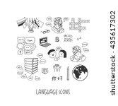 language icon set | Shutterstock .eps vector #435617302