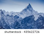Small photo of beautiful view of mount Ama Dablam with beautiful sky on the way to Everest base camp, Khumbu valley, Sagarmatha national park, Everest area, Nepal