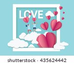 love invitation card valentine... | Shutterstock .eps vector #435624442