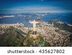 aerial panorama of botafogo bay ...   Shutterstock . vector #435627802