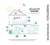 smart house technology system... | Shutterstock . vector #435628846