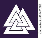 valknut symbol . vector...   Shutterstock .eps vector #435629002