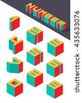 collection of the isometric... | Shutterstock .eps vector #435633076