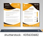front and back page brochure... | Shutterstock .eps vector #435633682