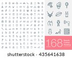 Stock vector set of beauty wedding and clothes icons for web or services line female icons high quality 435641638