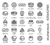 line icon set of world best... | Shutterstock .eps vector #435642985