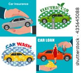 set of car business concepts ... | Shutterstock .eps vector #435645088