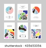 collection of trendy creative... | Shutterstock .eps vector #435653356