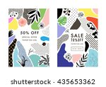 set of creative social media... | Shutterstock .eps vector #435653362