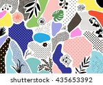 creative geometric background... | Shutterstock .eps vector #435653392
