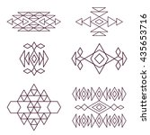 aztec pattern elements for your ... | Shutterstock .eps vector #435653716