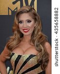 Small photo of BURBANK, CA. April 9, 2016: Farrah Abraham at the 2016 MTV Movie Awards at Warner Bros Studios.