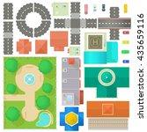 city map constructor set | Shutterstock .eps vector #435659116