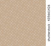 seamless beige vintage... | Shutterstock .eps vector #435661426