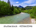 Landscape Scenery Of Stream An...