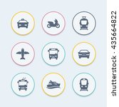 passenger transport icons ...