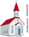 little county christian church | Shutterstock .eps vector #43566553