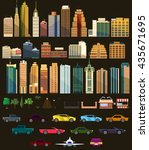 big set with city elements.... | Shutterstock .eps vector #435671695