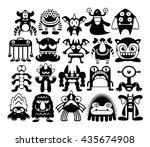 vector cartoon set of different ... | Shutterstock .eps vector #435674908