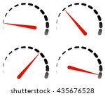 dial  meter templates with red... | Shutterstock .eps vector #435676528
