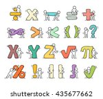 cartoon icons set of sketch... | Shutterstock .eps vector #435677662