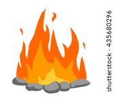 bonfire icon cartoon. singe... | Shutterstock .eps vector #435680296