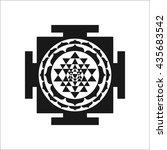 sri yantra symbol sign simple...