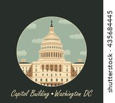 Stock vector vector illustration capitol building in washington dc 435684445