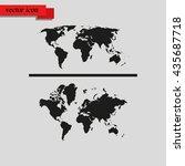 world maps flat vector icon. | Shutterstock .eps vector #435687718