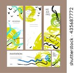 vector collection of abstract... | Shutterstock .eps vector #435687772