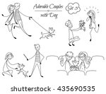 set of lined couples in the... | Shutterstock .eps vector #435690535