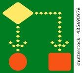 algorithm scheme vector toolbar ... | Shutterstock .eps vector #435690976