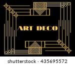 art deco frame. retro style... | Shutterstock .eps vector #435695572