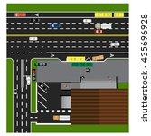 plot road  highway  street ... | Shutterstock .eps vector #435696928