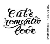 cute romantic life lettering.... | Shutterstock .eps vector #435701182
