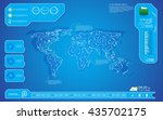 world map technology innovation ... | Shutterstock .eps vector #435702175