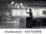 guy making announcement | Shutterstock . vector #435705898