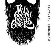 vintage poster this beard needs ... | Shutterstock .eps vector #435711466