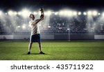 he is the champion | Shutterstock . vector #435711922